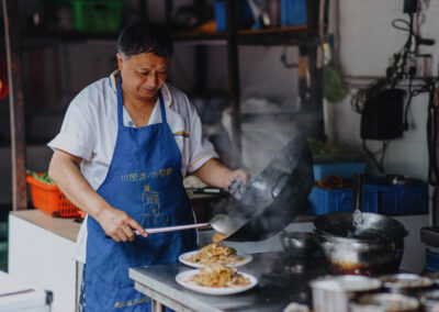 Straßenküche Chinesisches Essen Chinese food