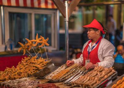 Chinesische Küche Straßenverkauf Chinese food Beijing Peking