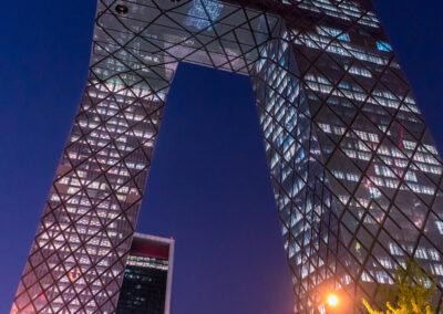 China Beijing by night Peking bei Nacht