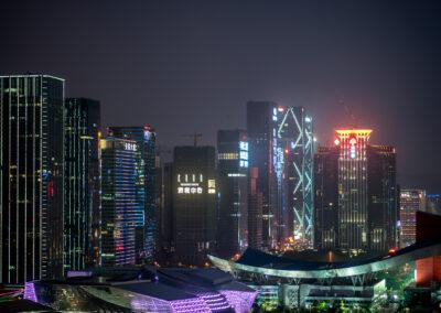 Skyline Shenzhen China Shenzhen by night Shenzhen bei Nacht