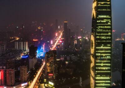 Shenzhen by night Shenzhen bei Nach Skyline Tower Skyscraper China
