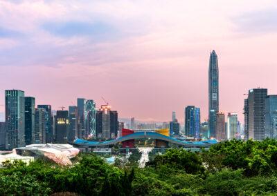 Skyline Shenzhen Zentrum von Shenzhen China