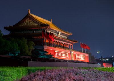 Peking Beijing China Eingang verbotene Stadt Forbidden City bei night